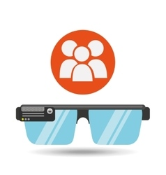 Glasses technology team application media vector
