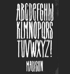 Grunge alphabet set vector