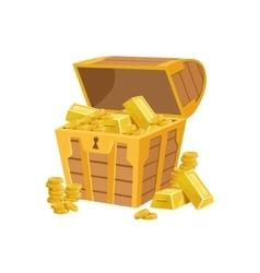 Half Open Pirate Chest With Golden Bars Hidden vector image