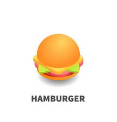 hamburger icon symbol vector image