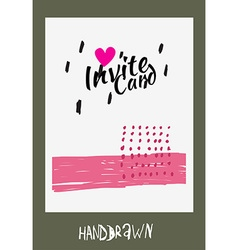 Handdraw card vector