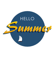 hello summer 1 vector image