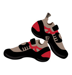 Hiking shoes icon cartoon style vector