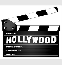 Hollywood clapperboard vector