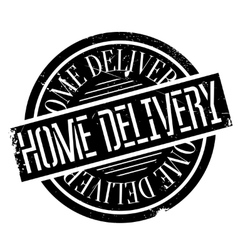 Home Delivery rubber stamp vector