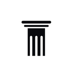isolated pillar icon history element can vector image