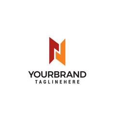 letter n logo template vector image