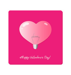 light bulb in shape of heart with the word love vector image