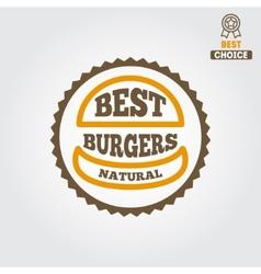 Logo label sticker for fast food restaurant vector image