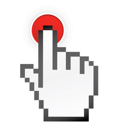 mouse hand red botton ii vector image