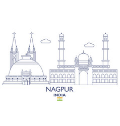 nagpur city skyline vector image