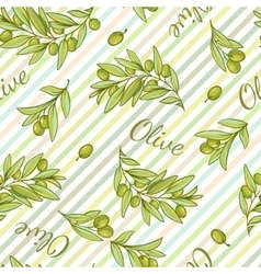Olive Stripped Pattern vector image