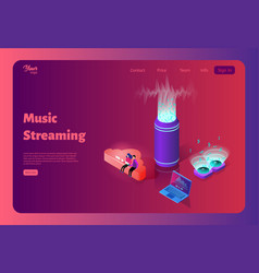 online music streaming from the cloud template vector image