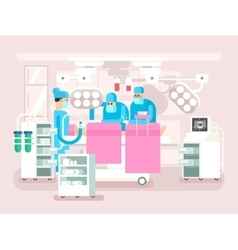 Operating room design vector