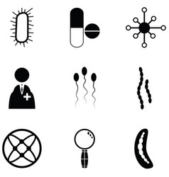 Pathogen icon set vector