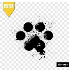 Paw print animal vector