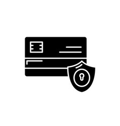 payment security black icon sign on vector image