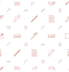 Pen icons pattern seamless white background vector