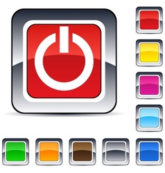 Power square button vector image