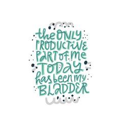 Pregnancy phrase saying color sketch inscription vector