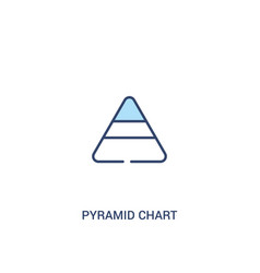 pyramid chart concept 2 colored icon simple line vector image