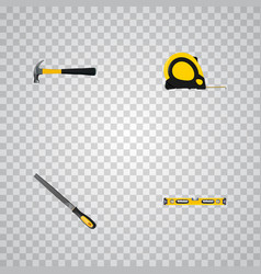 realistic claw plumb ruler sharpener and other vector image