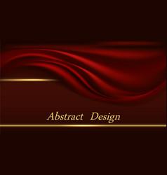 red velvet luxury background for banner or poster vector image
