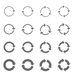 Rotation arrows set vector