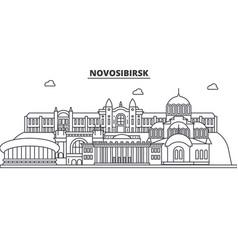 russia novosibirsk architecture line skyline vector image