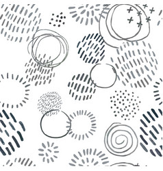 seamless pattern with slate pencil hand drawn vector image
