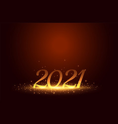 Shiny 2021 happy new year background with glowing vector