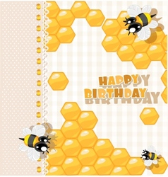 So sweet Birthday card vector image
