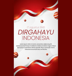 Social media instagram story banner indonesia vector