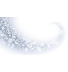 Swirling magic snow effect with white transparent vector