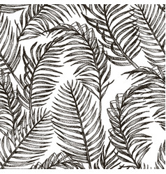 tropic plants floral seamless jungle pattern vector image