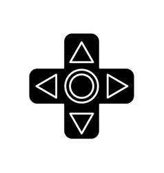 Videogame controller arrows icon vector