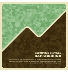 Vintage background with triangle vector image