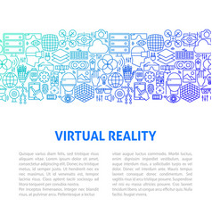 virtual reality line design template vector image