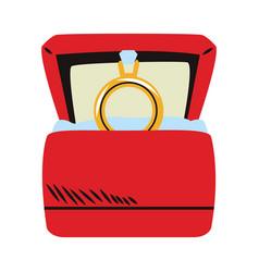 Wedding ring box vector