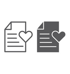 wish list line and glyph icon paper and document vector image