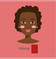Woman face type oblong vector
