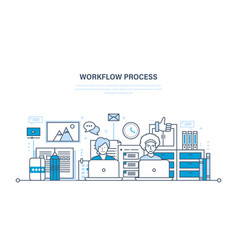 workflow workplace environment soft hardware vector image