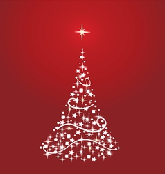x tree red vector image