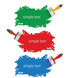 brush in color vector image vector image