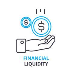 financial liquidity concept outline icon linear vector image vector image