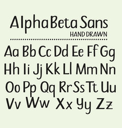 hand drawn sans serif alphabet containing all vector image vector image