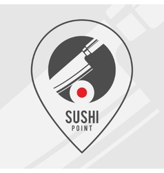 Sushi point - logo for the shop vector image vector image
