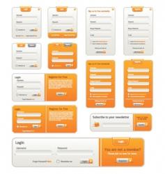 website design elements vector image vector image