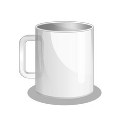 white cup isolated icon vector image
