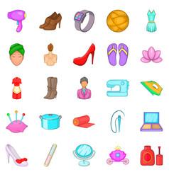 women like icons set cartoon style vector image vector image